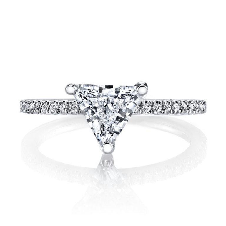 trilliant cut diamond engagement ring