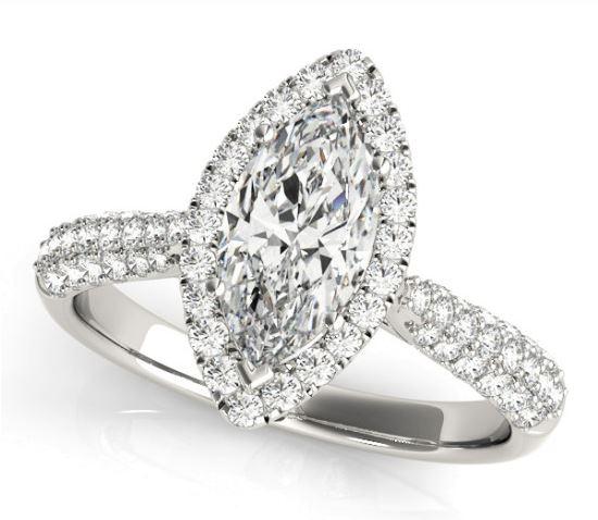 marquis diamond engagement ring