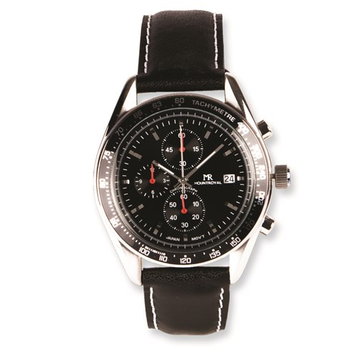 mens mountroyal leather watch