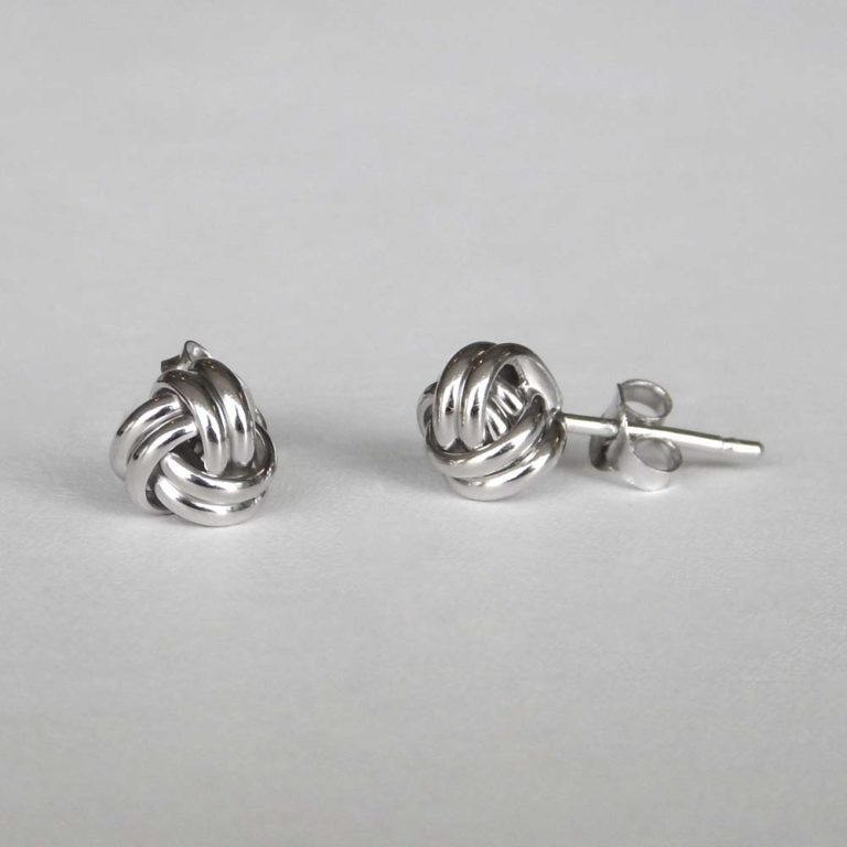 sterling silver knot earring posts