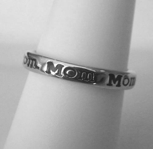 sterling silver mom ring