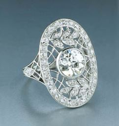 platinum and diamond edwardian ring