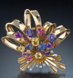 floral retro brooch
