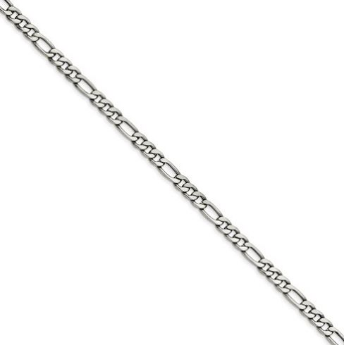 mens stainless steel figaro chain