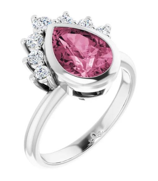 unique pear shape engagement ring
