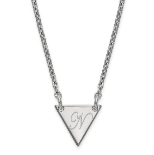 initial triangle pendant