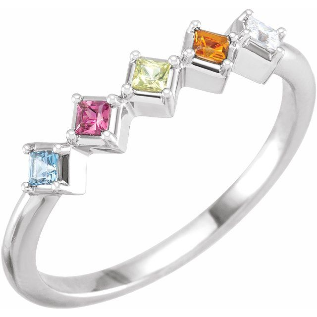 birthstone mothers ring