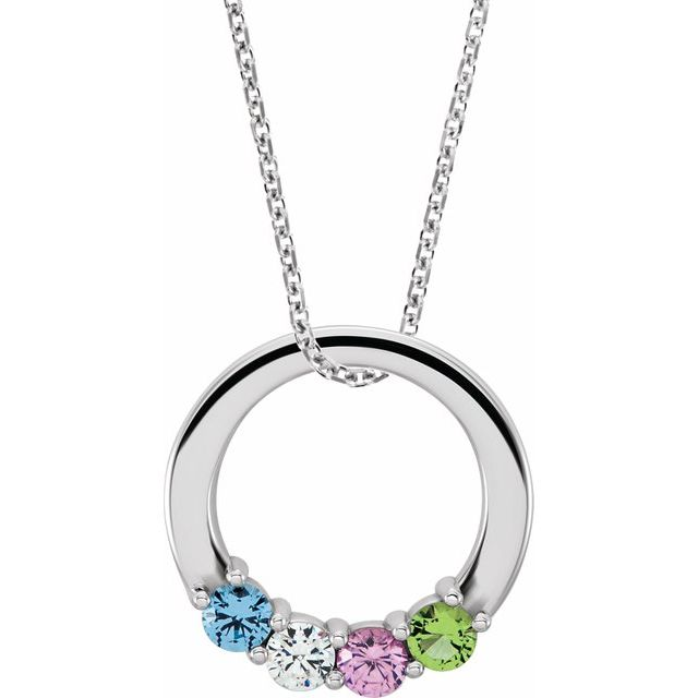 birthstone family pendant