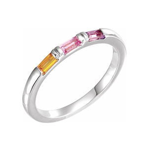 birthstone family ring