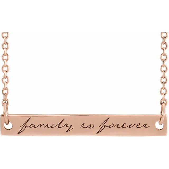 family is forever bar necklace