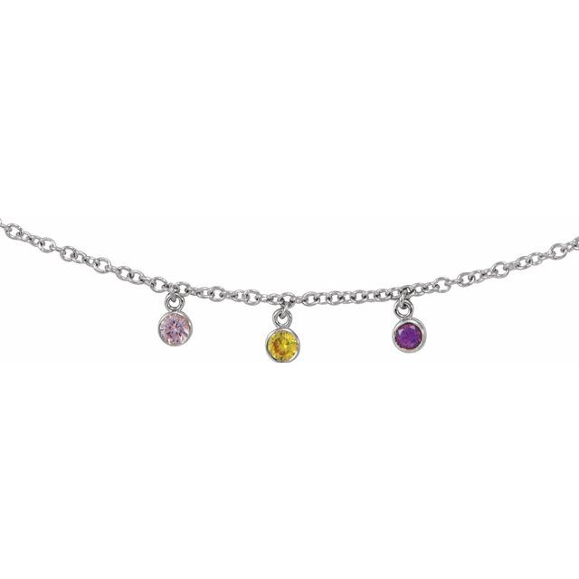 gemstone family necklace
