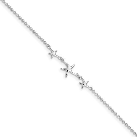 sterling silver star anklet
