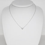 single diamond necklace white gold