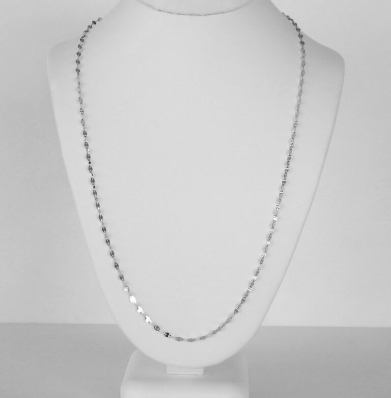 white gold fancy link necklace chain