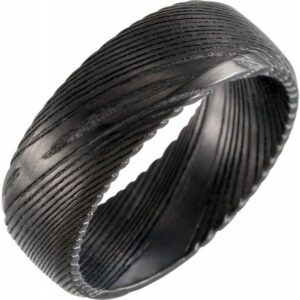 black dmascus steel wedding band