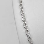 close up view of sterling silver necklace chain