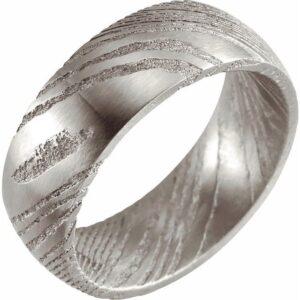 damascus steel wedding band