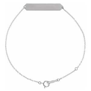 engravable geometric bracelet