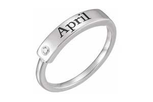 engravable birthstone ring