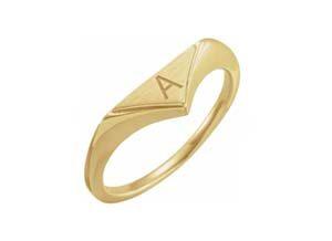 initial geometric signet ring