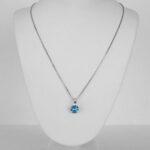 sterling silver blue gemstone necklace