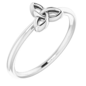 Stackable Celtic-Inspired Trinity Ring