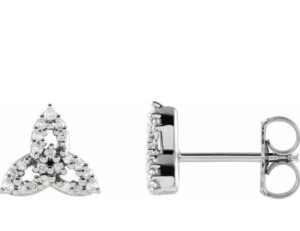 diamond celtic trinity knot earrings