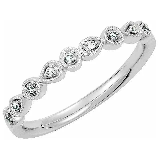 milgrain diamond band