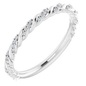 twisted diamond wedding band