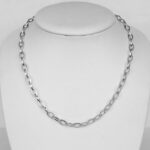 sterling silver fancy link necklace