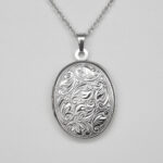 sterling silver oval locket