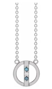 circle family birthstone necklace
