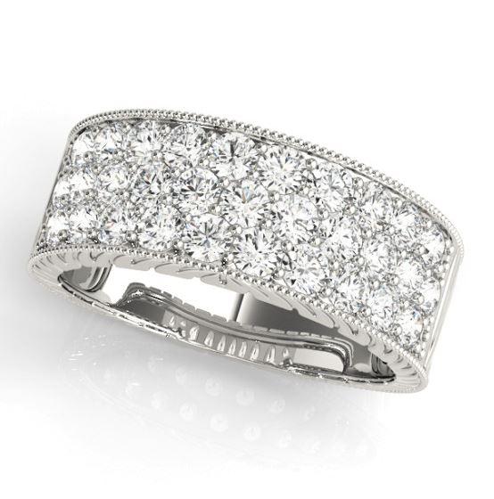 three row diamond band