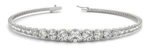 different size diamond bracelet white gold