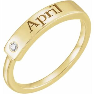 engravable birthstone stacking band