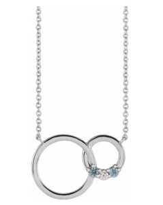 interlocking circle family necklace