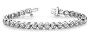milgrain diamond bracelet