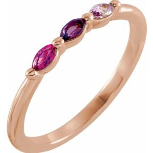 stackable family birthstone ring