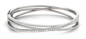 multi row diamond bangle