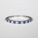 white gold sapphire and diamond band