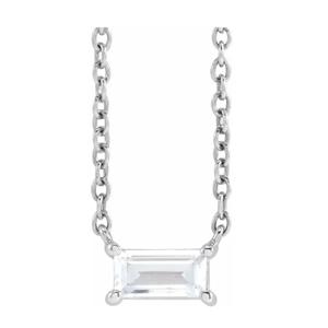 baguette diamond solitaire necklace