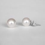 7mm akoya pearl studs white gold