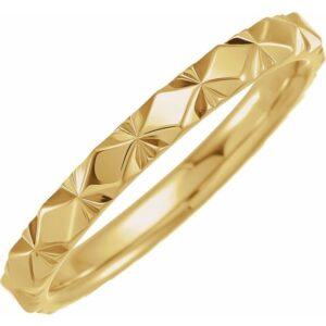 thin faceted band