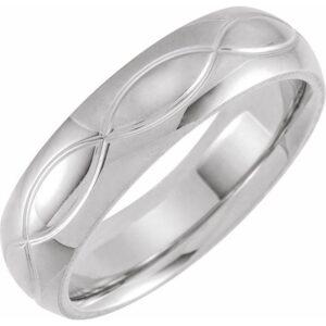 infinity pattern mens wedding band