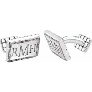 monogram cuff links