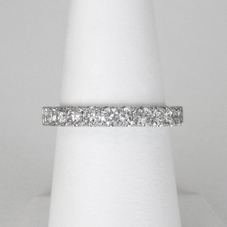 large white gold diamond band