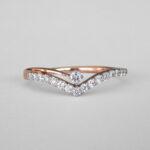 rose gold diamond crown band