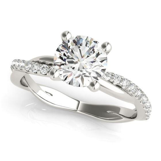 twisted diamond shank engagement ring
