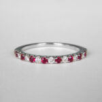 white gold ruby and diamond band