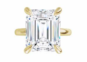 large emerald cut diamond engagement ring